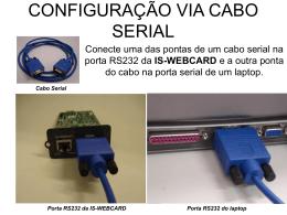 CONFIGURAÇÃO VIA CABO SERIAL