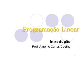 Programação Linear - Erudito FEA-USP