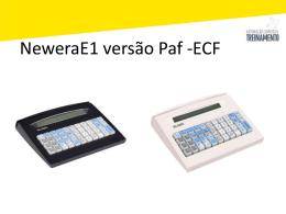 Newera E1– Inicializando o PAF-ECF
