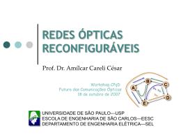 Redes Ópticas Reconfiguráveis