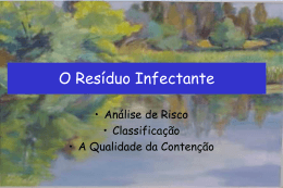 resíduo infectante
