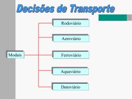 SEMANA 02 - aula 01 - Decisões de Transporte