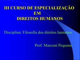 Filosofia dos direitos humanos I