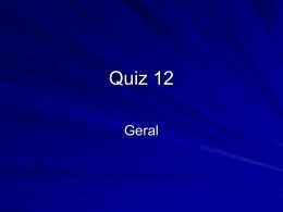 Quiz 12