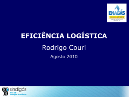 """""""Eficiência Logística"""" - 2 kb Apresentação feita pelo Sr. Rodrigo Curi"""