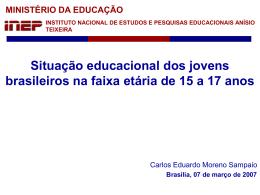 Situação educacional dos jovens brasileiros na faixa etária