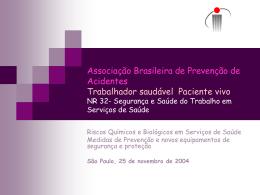 Riscos químicos e biológicos em serviços de saúde