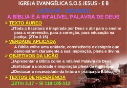10/10/2011 a bíblia é a infalível palavra de deus