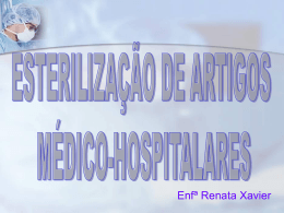 Esterilização de artigos médico-hospitalares