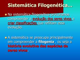 Aula 2 - Sist Filogenetica modificada 26-08