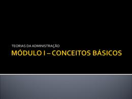 MÓDULO I – CONCEITOS BÁSICOS