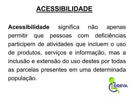 Apresentação Acessibilidade
