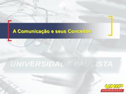 A Comunicação e seus Conceitos