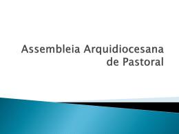 arquidiocesano. - Arquidiocese de Mariana