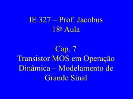 Capítulo 7 - Transistor MOS em Operação Dinâmica