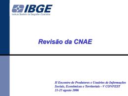Revisão 2007 da CNAE