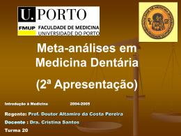 Meta-análise em Medicina Dentária (2ª apresentação)