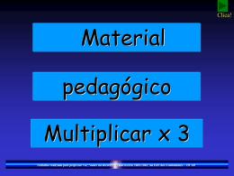 Tabuada de multiplicar (x3)