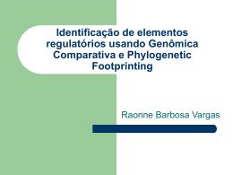 Identificação de elementos regulatórios usando Genômica