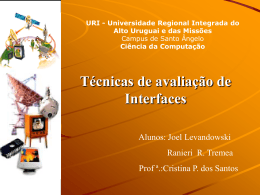 Avaliação de Interfaces - URI