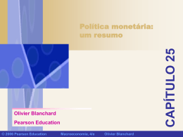 Política monetária - Continental Economics Institute