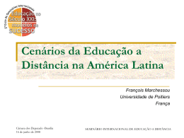 Cenários da Educação a Distância na América Latina