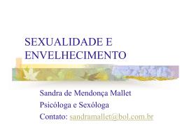 SEXUALIDADE E ENVELHECIMENTO