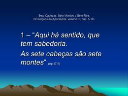 sete montes - Revelações do Apocalipse