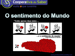 sentimento do mundo - Profasoninha