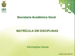matrícula em disciplinas aluno periodizado