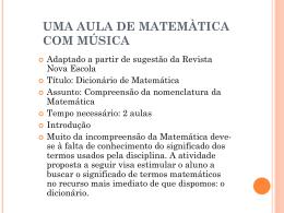 uma aula de matemàtica com música