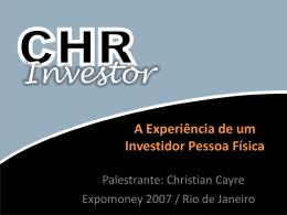 Novembro 2007 (slides da palestra em Powerpoint)