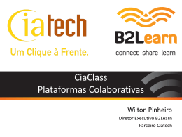 Wilton Pinheiro – Plataformas Colaborativas