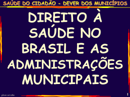 a saúde pública no brasil