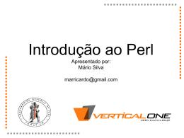 Introducao ao Perl