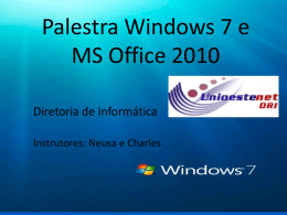 Palestra Windows 7 e MS Office 2010