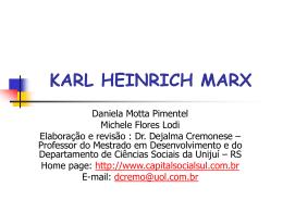 KARL HEINRICH MARX - Capital Social Sul