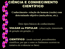 ciência e conhecimento científico i