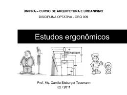 Estudos ergonômicos e antropométricos