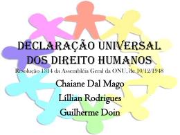 DECLARAÇÃO UNIVERSAL DOS DIREITO HUMANOS