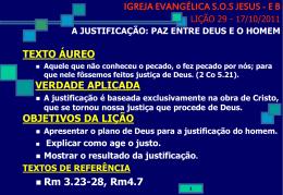 17/10/2011 a justificação: paz entre deus e o homem
