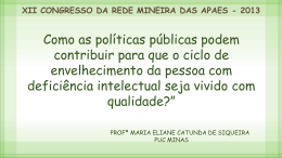 Maria Eliane Catunda - Uniapae-MG