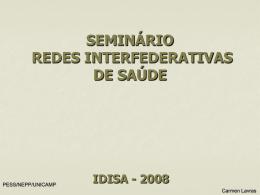 SEMINÁRIO REDES INTERFEDERATIVAS DE SAÚDE