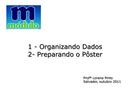 1 - Organizando Dados 2