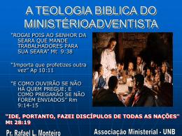 A TEOLOGIA BIBLICA DO - Bem vindo a www.neemias.info