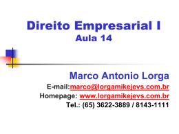 Aula Empresarial 14 - Sociedades Limitadas II
