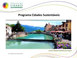 Slide 1 - Programa Cidades Sustentáveis