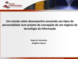 Consolidação do Modelo - Centro de Informática da UFPE