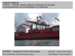Porto-Cidade: relação em Guarujá - FAU