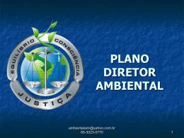 PLANO DIRETOR AMBIENTAL